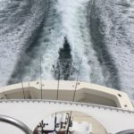 Fishing Charter Yacht Wake from Stern