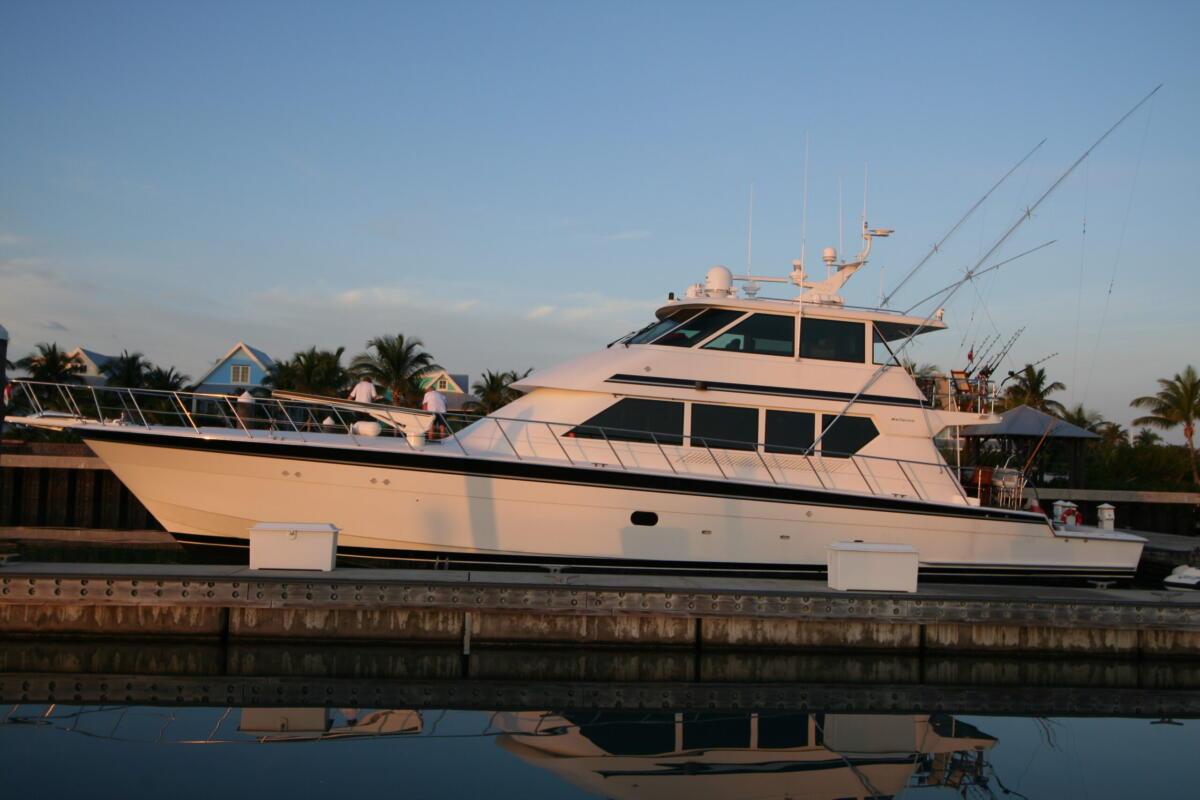 Luxury Yacht Exterior at Sundown